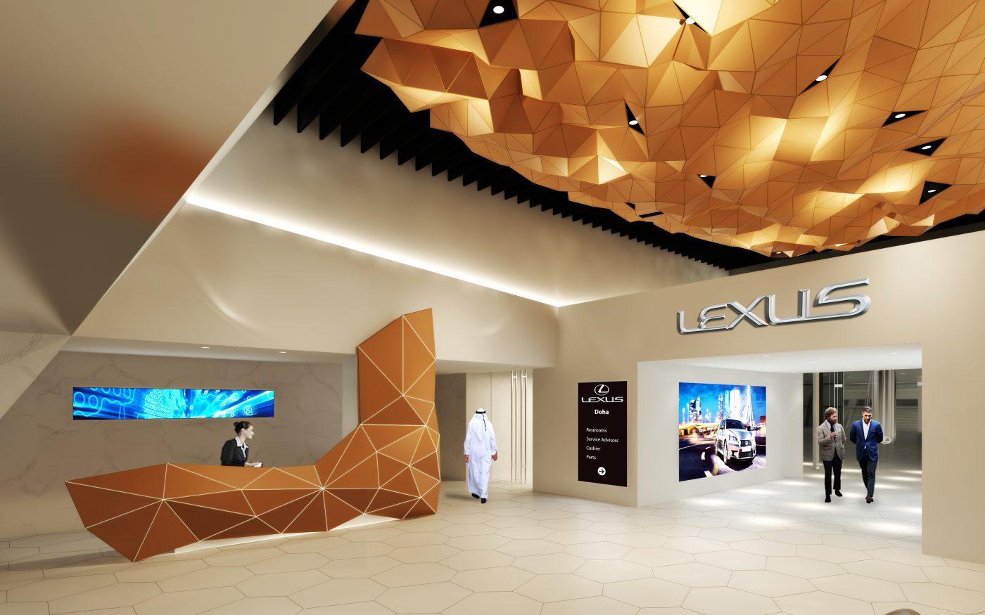 Garden City Jeep >> Lexus showroom and offices - Doha - Peia Associati